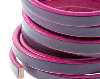 10 x 4.5 mm Bi-Color leather cord.