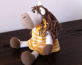Amigurumi horse,Crochet horse,Plush horse,Handmade horse,Stuffed horse