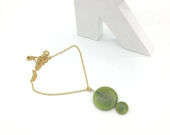 Vegetable ivory (Tagua) pendant necklace