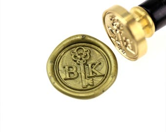Personalized Initials with Key wax seal stamp/Custom wedding seals/wedding invitation seal/custom wedding stamp