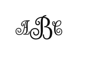 Interlock Fancy Font Monogram Alphabet font SVG DXF Cut Files Instant Download