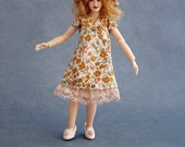"Wearable dollhouse dress and hat for 1/12 Heidi Ott 5.5"" slim doll. Free shipping!"