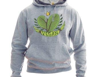 Vegan Hoodie Or Sweatshirt Gift For Vegan Gift Vegan Hoodie Plant Sweatshirt Vegan Clothing Vegan Sweater Vegan Hooded Top Vegan Sweatshirt