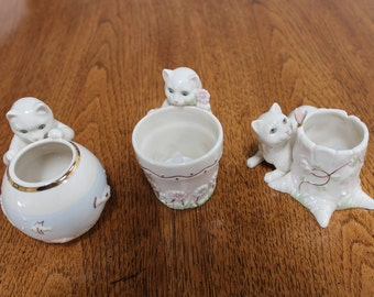 Lenox Curious Kitty Tealights Set of 3