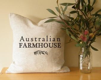 Australian farmhouse cushion cover