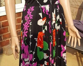 Bright and Beautiful 1970s Floral Maxi Dress by Berketex of Mayfair