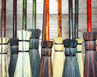 Wizard & Witches Broom Meckley Brooms Lightning Besom Dy-skyz'd