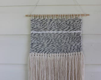 Grey Marble Woven Wall Hanging