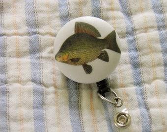 Vintage Fish Badge Reel, ID Holder
