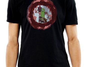 Pickle Rick Laser Cannon T-Shirt Large Chest Rick & Morty T-Shirt