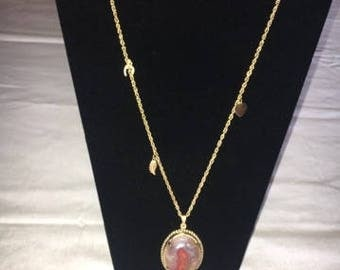 Agate Stone Necklace, homemade rock jewelry, rock necklace