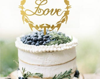 Love Wedding Cake Topper, Personalized Cake Topper for Wedding, Custom Personalized Wedding Cake Topper, Love Wedding Cake Topper