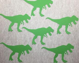 30 Die Cut Cardstock Paper Dinosaur T-Rex Cut Out