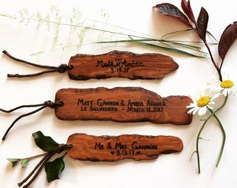 Rustic Personalized Save The Date Bookmarks, Custom Save The Dates, Wooden Bookmark, Wedding Save the Date, Country Wedding, Rustic Wedding