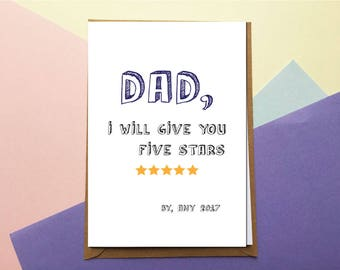 Personalised Father's day card - Funny Father's Day Card - Father's Day Card - Birthday Card Dad - Card for Dad - Happy Father's day - Card