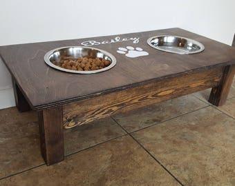 Rustic dog feeder | Etsy - photo#32