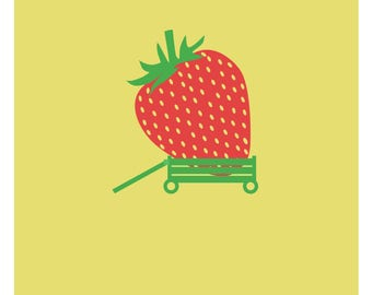 """Poster French - """"Bring back its strawberry"""""""