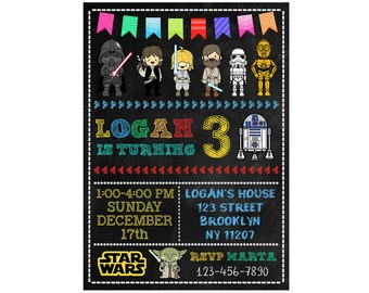 Star Wars Invitation, Star Wars Birthday Invitation, Star Wars Birthday Party