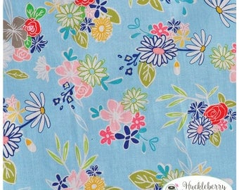Daisy Days, Daisy Main Blue, Riley Blake Fabric, Keera Job, Floral, Quilting Fabric, Cotton Fabric, Yardage