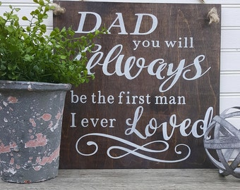 Dad Sign, Wood Sign, Gift for Dad