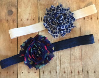Baby Headbands, Navy, Baby Bows, Baby Shower Gift, It's a Girl
