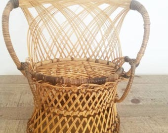 Mini Chair Wicker Planter