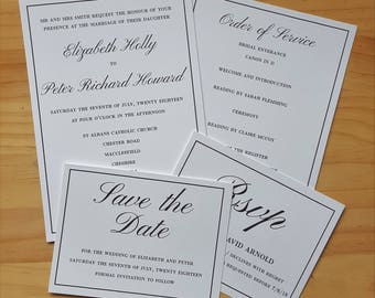 Invitation, RSVP and Save the Date, Traditional Wedding Stationery