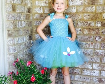 Princess Poppy, Poppy, Inspired by Trolls, Troll Hair, Blue Tutu, Princess Poppy tutu, Princess Poppy costume, sibling costume, big hair