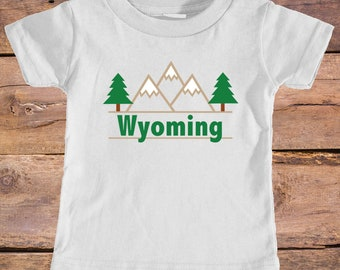 Wyoming Mountain & Trees - Eco Tri-Blend Infant T-Shirt