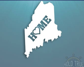 Maine Decal - PICK COLOR and SIZE - Maine Home Decal - Me Decal - Maine Car Decal - Maine sticker - Maine car sticker - Maine