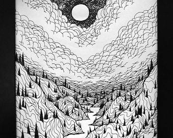"""Lucas Allen Cook  """"Night Canyon"""""""