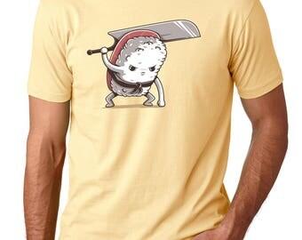 Men's Yellow Tuna Sushi Samurai Foodie Gift Sushi lover gift Sushi clothing Cute Food Shirt Sushi Roll Sushi Roll Shirt Sushi shirt Funny