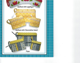 In the Hoop Lined Accessory Bags Pattern