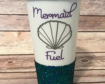 Mermaid Fuel Travel Coffee Cup