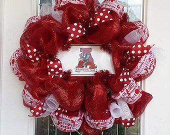 Alabama Crimson Door wreath & Chicago Bears Football Wreath Pezcame.Com