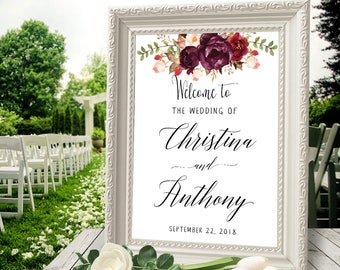 Welcome Wedding Sign, Welcome Wedding Printable, Wedding Sign, Wedding Poster Board, DIY, Template, Signs, Wedding welcome signs, #26