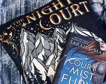 Night Court Pillow, ACOTAR, A Court of Thorns and Roses Pillow, Rhysand, Feysand, Court of Dreams,ACOMAF, Sarah J Maas, Bookish Pillow Case
