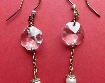 Crystal Charm Earrings