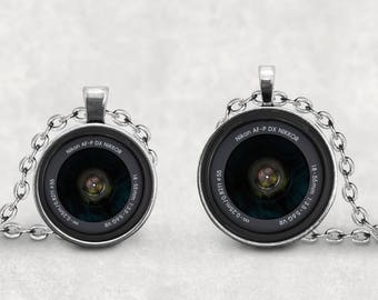 Nikon Camera Lens Necklace, Camera Lover, Camera Lens Jewelry, Vintage Camera Len, Photography Necklace, Old Retro Camera, Splendant Pendant