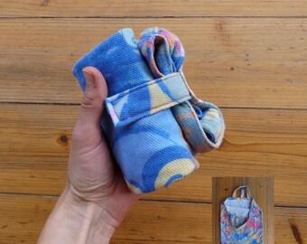 Foldable shopping bag/bag recycled fabric/color pastel/Folding/Pocket/bag ecoborsa/shopper upcycling