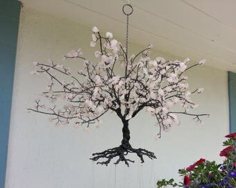 Rose Quartz Cherry Tree Wind Chime