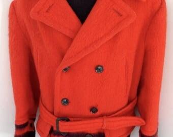 Hercules Early's WITNEY 4 Point Wool HUDSON BAY Style Blanket Coat Jacket 44 Exc