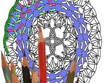 Mandala 0003,   coloring page
