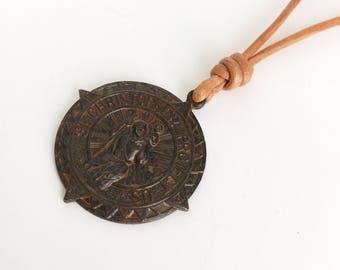 Saint Christopher Necklace Protect us Necklace St Christopher Necklace Saint Necklace Traveler Gift Traveler Necklace Catholic Necklace