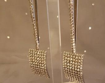 Swarovski Glamour Earrings -  Cher  - Wow Silver