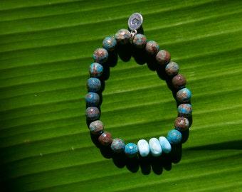Love Stack Bracelet - Marble Labradorite 8mm
