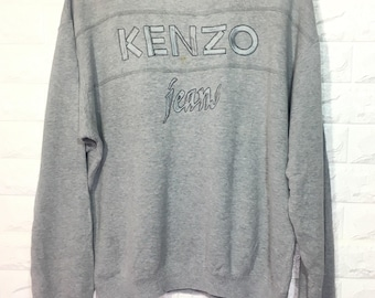 20%OFF 90s Vintage Kenzo clothing-big logo sweatshirts-spell out embroidered sweatshirts  sweater for men - free size sweatshirt for women