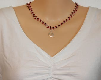 Red 3 strand Necklace