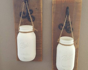 Hanging Mason Jar Flower Holder