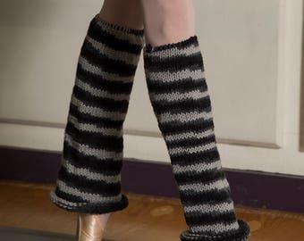 """WearWellCo """"3 Shades of Grey"""" Short Leg Warmers"""